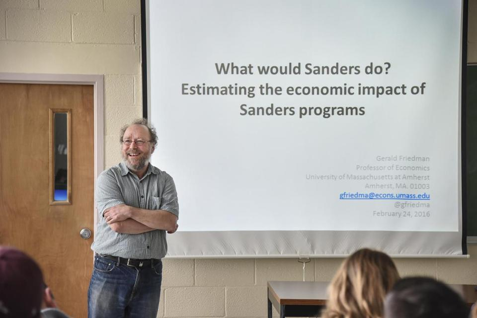 Gerald Friedman's analysis found that under Sanders policies, the economy would grow at more than double the 2015 pace.